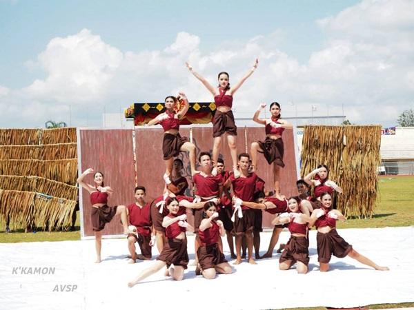 cheerleader กองเชียร์ กีฬาสี จังหวัดตรัง นักเรียน เชียร์ลีดเดอร์ โรงเรียนสภาราชินี