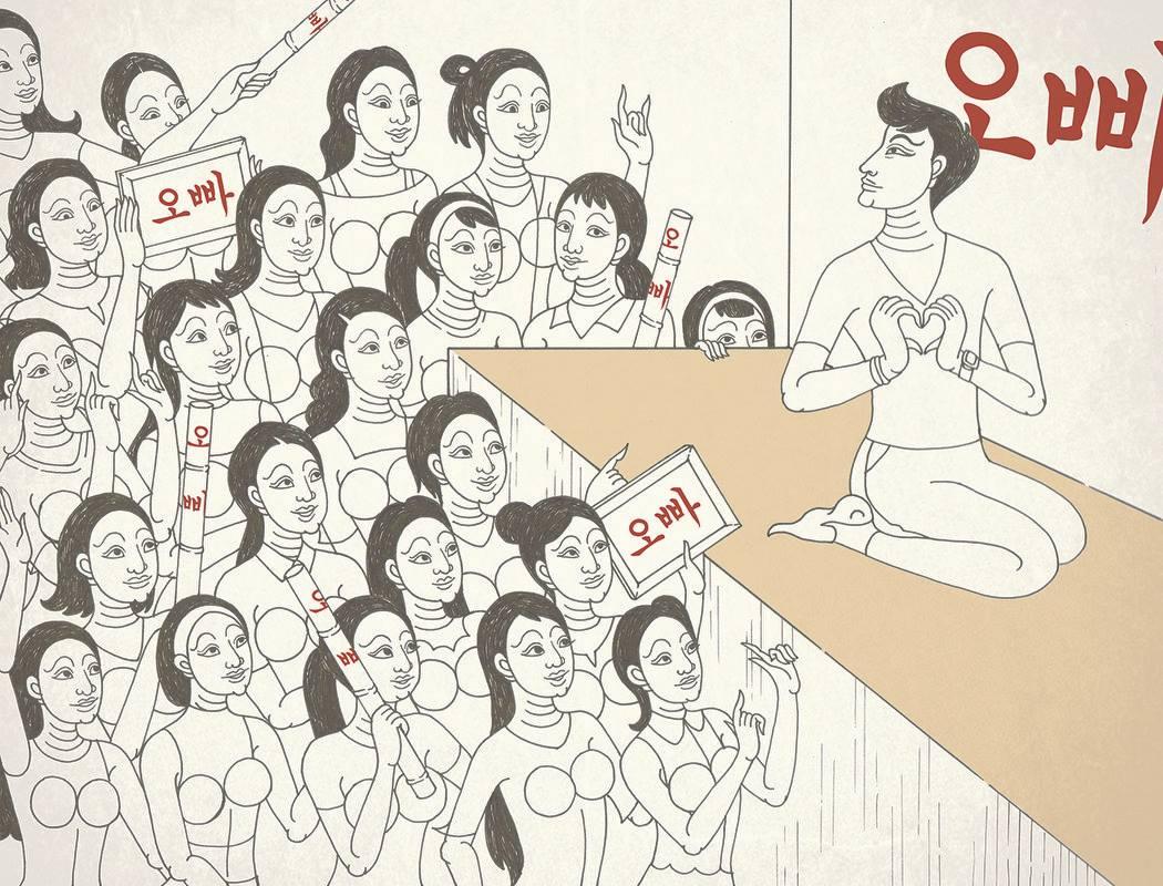 เจ๋งมาก! นศ.วาดภาพลายไทย สะท้อนพฤติกรรมแฟนคลับเกาหลี (4)