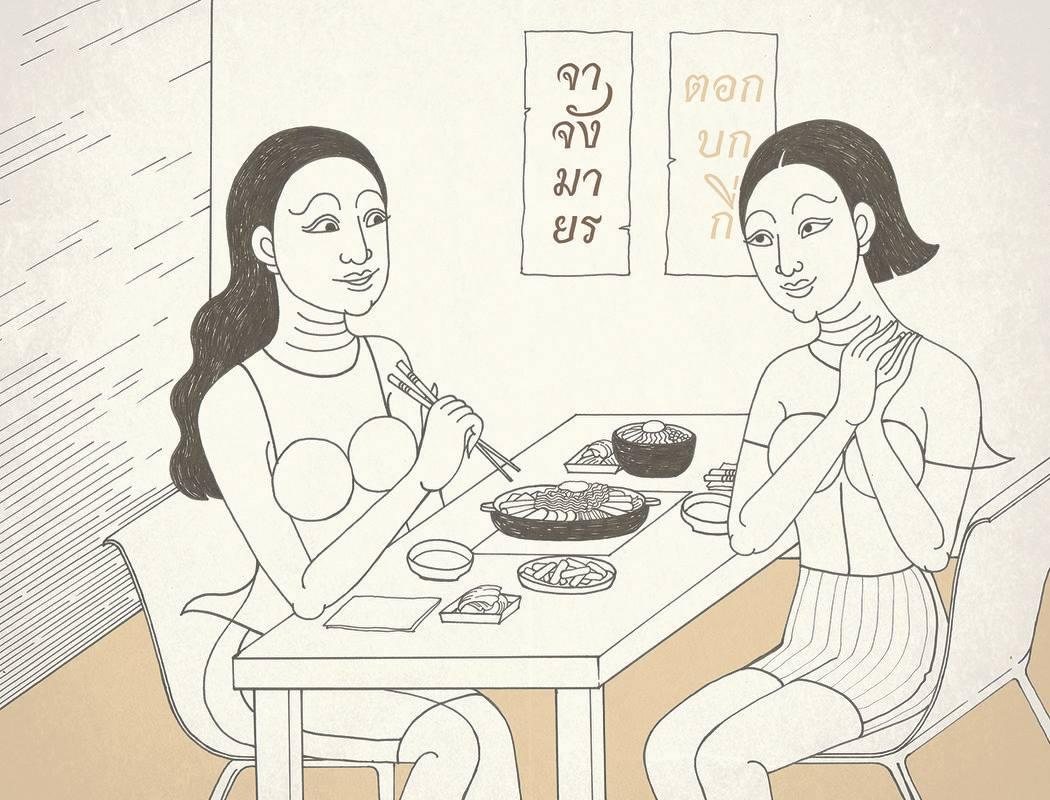 เจ๋งมาก! นศ.วาดภาพลายไทย สะท้อนพฤติกรรมแฟนคลับเกาหลี (6)