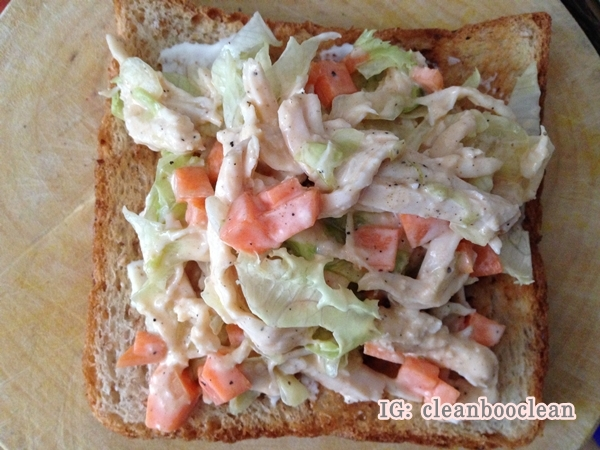 Sandwich อาหารคลีน เมนูเด็กหอ แซนวิช