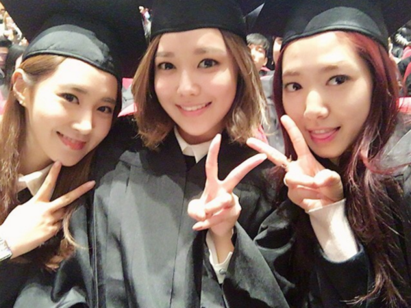 SNSD ดารารับปริญญา ดาราเกาหลี พัคชินฮเย มหาวิทยาลัยต่างประเทศ
