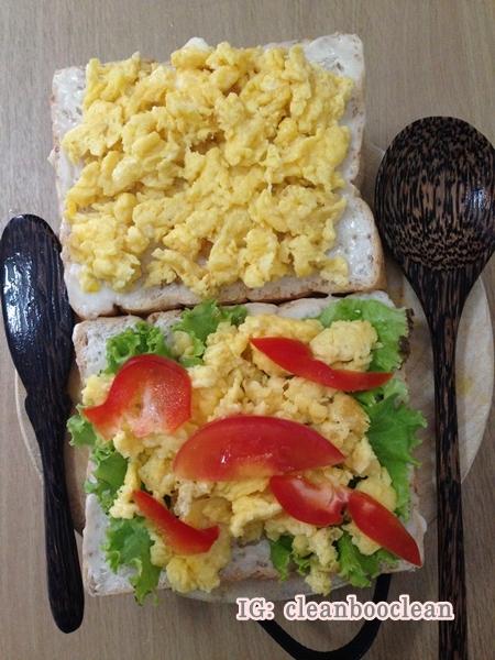 [เมนูเด็กหอ] แซนวิชไข่คน อาหารคลีน