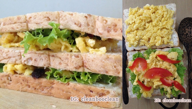 Sandwich อาหารคลีน เมนูเด็กหอ เมนูไข่ แซนวิช