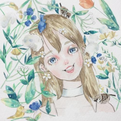 ฟลุ๊ค นฤเบศ เจ้าของเพจ NALU ภาพวาดสีน้ำลายเส้นสุดน่ารัก (10)