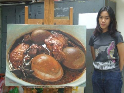 ภาพวาดอาหารสวยสมจริงมาก ฝีมือของนศ (1)