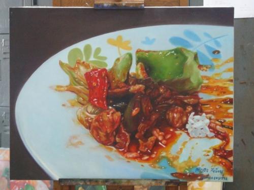 ภาพวาดอาหารสวยสมจริงมาก ฝีมือของนศ (11)