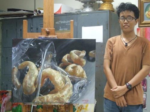 ภาพวาดอาหารสวยสมจริงมาก ฝีมือของนศ (15)
