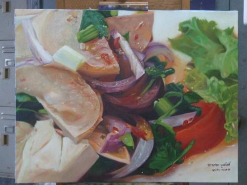 ภาพวาดอาหารสวยสมจริงมาก ฝีมือของนศ (16)