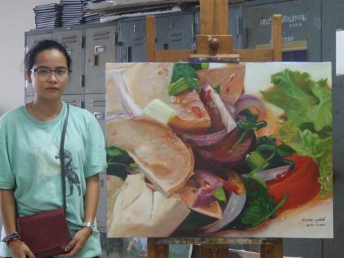 ภาพวาดอาหารสวยสมจริงมาก ฝีมือของนศ (17)