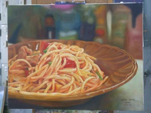 ภาพวาดอาหารสวยสมจริงมาก ฝีมือของนศ (18)