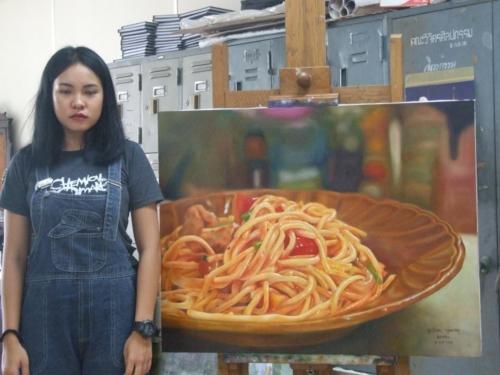 ภาพวาดอาหารสวยสมจริงมาก ฝีมือของนศ (19)
