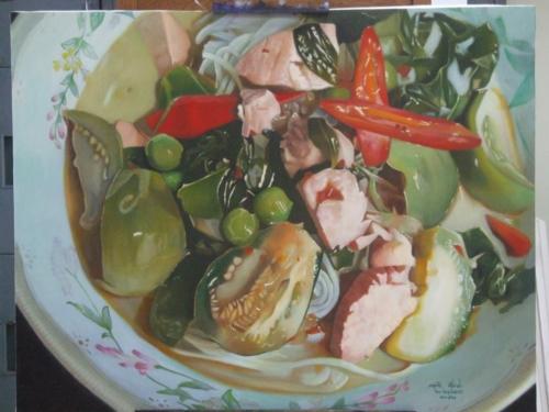 ภาพวาดอาหารสวยสมจริงมาก ฝีมือของนศ (2)