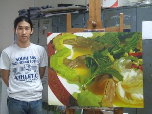 ภาพวาดอาหารสวยสมจริงมาก ฝีมือของนศ (21)