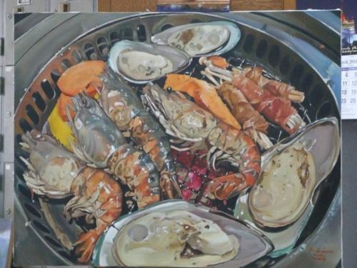 ภาพวาดอาหารสวยสมจริงมาก ฝีมือของนศ (23)