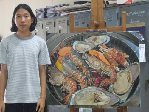 ภาพวาดอาหารสวยสมจริงมาก ฝีมือของนศ (24)
