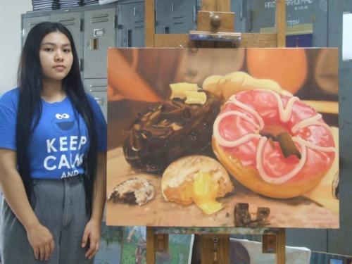 ภาพวาดอาหารสวยสมจริงมาก ฝีมือของนศ (26)