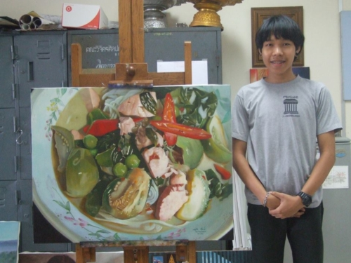 ภาพวาดอาหารสวยสมจริงมาก ฝีมือของนศ (3)