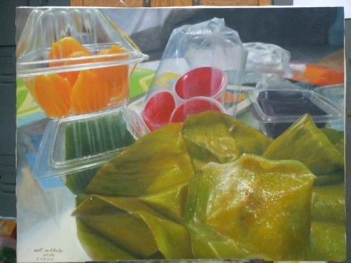 ภาพวาดอาหารสวยสมจริงมาก ฝีมือของนศ (5)