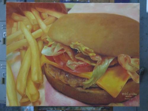 ภาพวาดอาหารสวยสมจริงมาก ฝีมือของนศ (7)