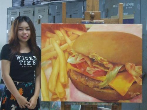 ภาพวาดอาหารสวยสมจริงมาก ฝีมือของนศ (8)