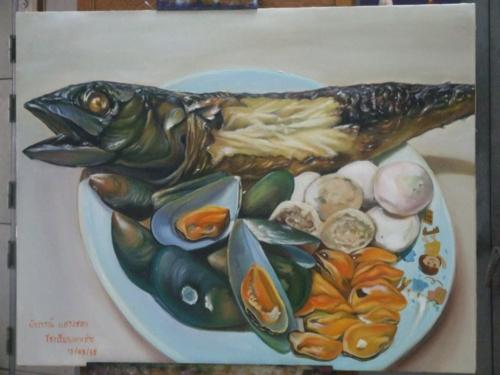 ภาพวาดอาหารสวยสมจริงมาก ฝีมือของนศ (9)