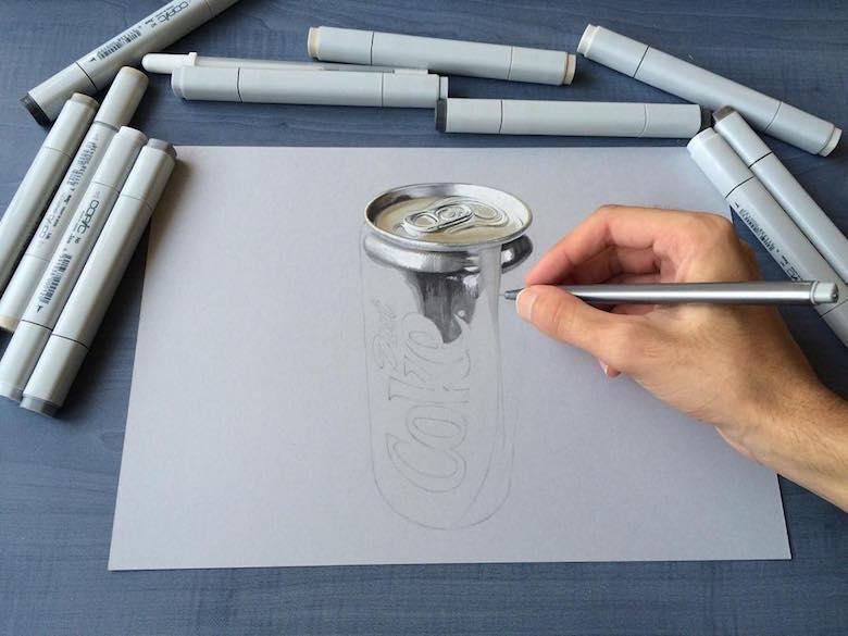ภาพวาด 3 มิติ ฝีมือนักศึกษาจากมุมไบ สวยงาม เหมือนจริงมากๆ (1)