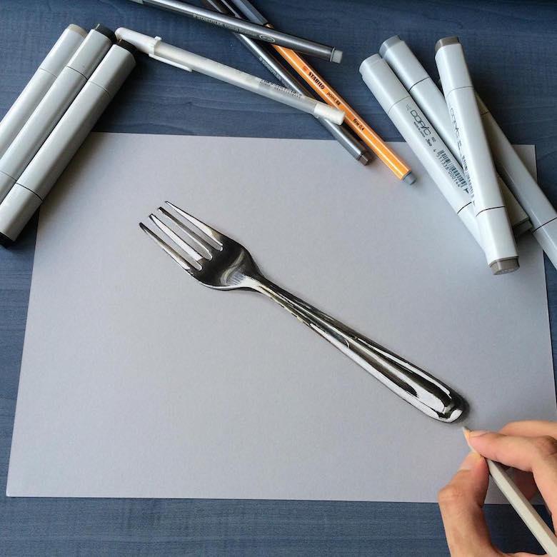 ภาพวาด 3 มิติ ฝีมือนักศึกษาจากมุมไบ สวยงาม เหมือนจริงมากๆ (14)