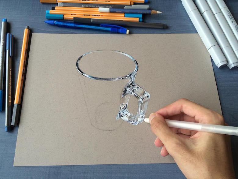 ภาพวาด 3 มิติ ฝีมือนักศึกษาจากมุมไบ สวยงาม เหมือนจริงมากๆ (18)