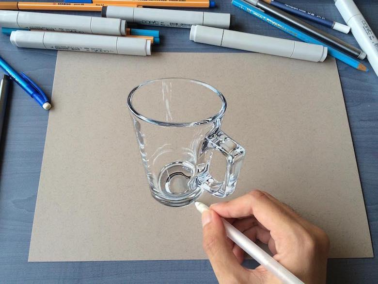 ภาพวาด 3 มิติ ฝีมือนักศึกษาจากมุมไบ สวยงาม เหมือนจริงมากๆ (19)