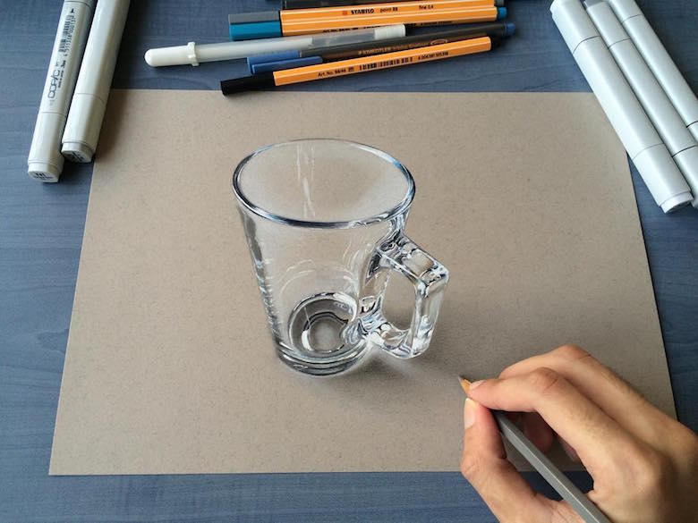 ภาพวาด 3 มิติ ฝีมือนักศึกษาจากมุมไบ สวยงาม เหมือนจริงมากๆ (20)