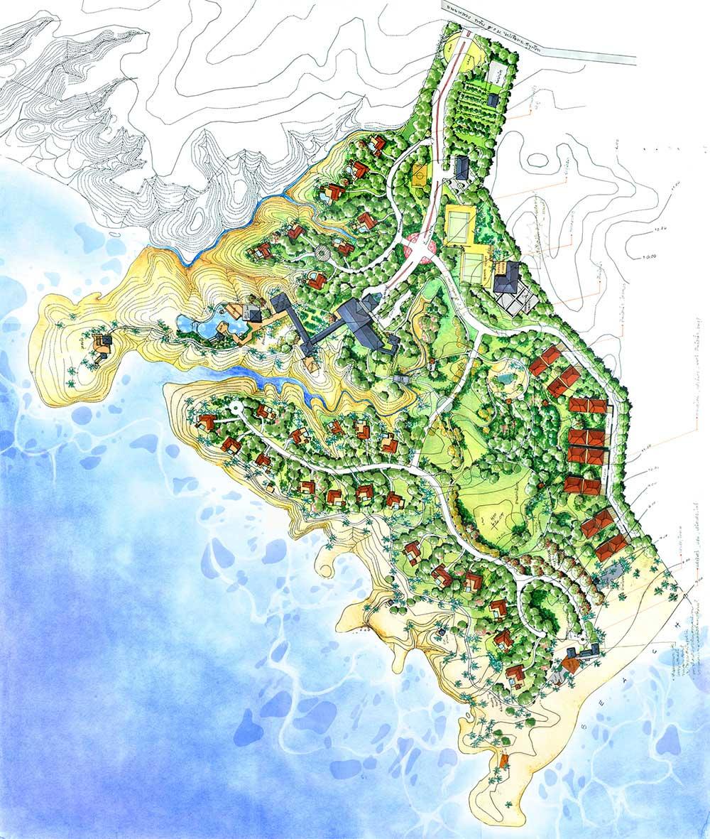 (รูปโปรเจคตอนปีสาม ออกแบบ Housing หมู่บ้านริมทะเล)