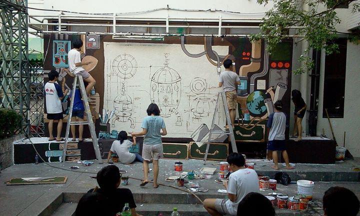 สวยงาม! ภาพจิตรกรรมบนฝาผนัง (รวมงาน mural คณะมัณฑนศิลป์ ศิลปากร) (19)