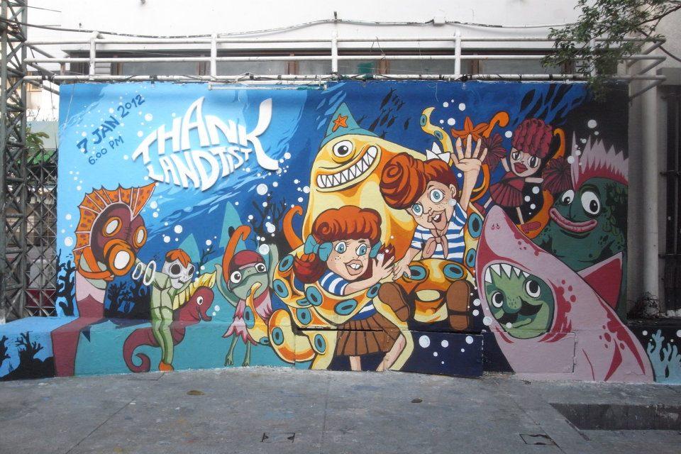 mural คณะมัณฑนศิลป์ จิตรกรรม ภาพวาด ภาพศิลปะ
