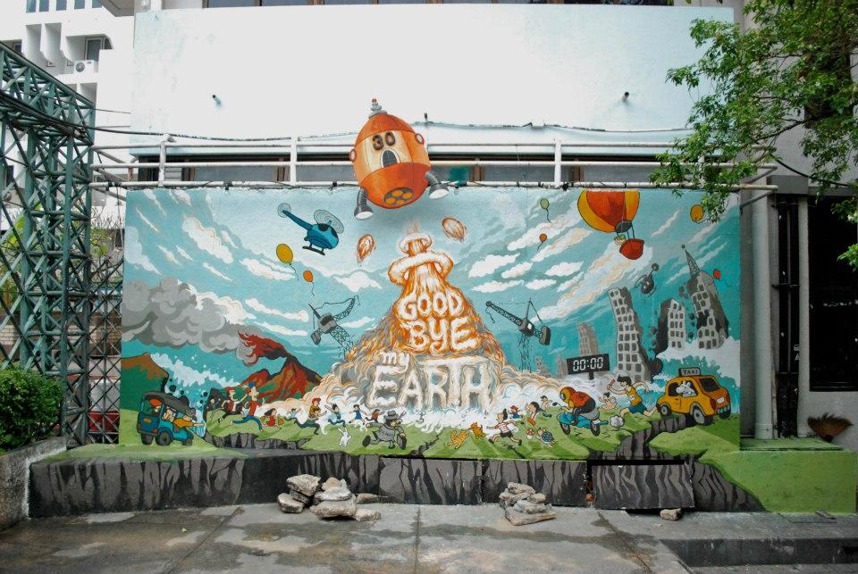 สวยงาม! ภาพจิตรกรรมบนฝาผนัง (รวมงาน mural คณะมัณฑนศิลป์ ศิลปากร) (25)