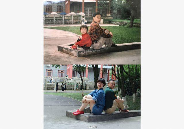 น่ารักอ่ะ บัณฑิตสาวจีน ถ่ายรูปย้อนวันวานในมหาวิทยาลัย