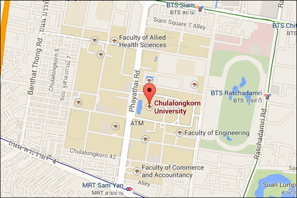 แผนที่จุฬาฯ แบบ Google Map