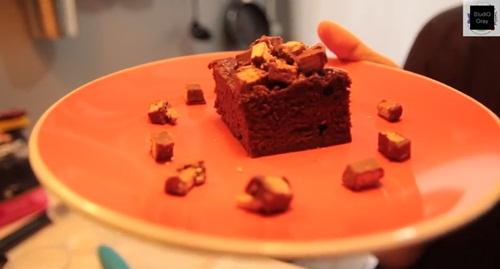 cake คิทแคท บราวนี่คิทแคท เมนูเด็กหอ ไมโครเวฟ