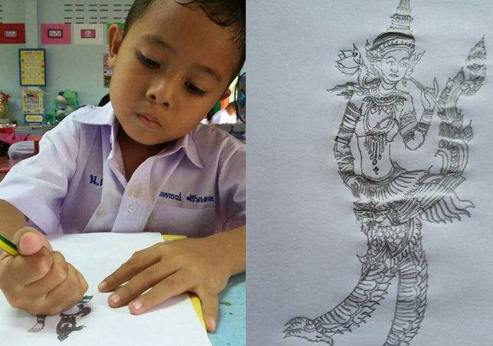 พุทธประวัติ วาดภาพ เด็กเก่ง โรงเรียนบ้านโนนเดื่อ