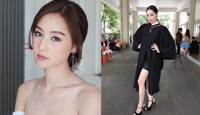 THE FACE THAILAND The face thailand 3 ดารารับปริญญา บลอสซั่ม ชนัญชิดา บัณฑิตเกียรตินิยม สาวประเภทสอง