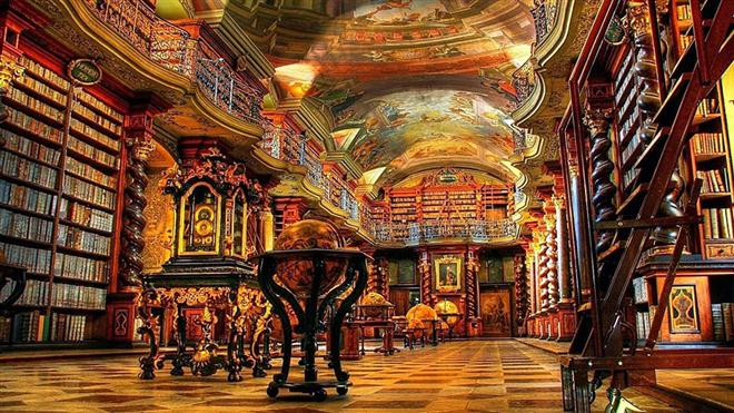 Klementinum สาธารณรัฐเชค ห้องสมุด หอสมุดที่สวยที่สุดในโลก