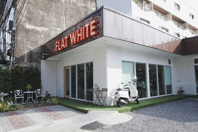 campus star กาแฟอร่อย ร้าน FLAT WHITE ร้านน่านั่ง ร้านสุดชิลล์
