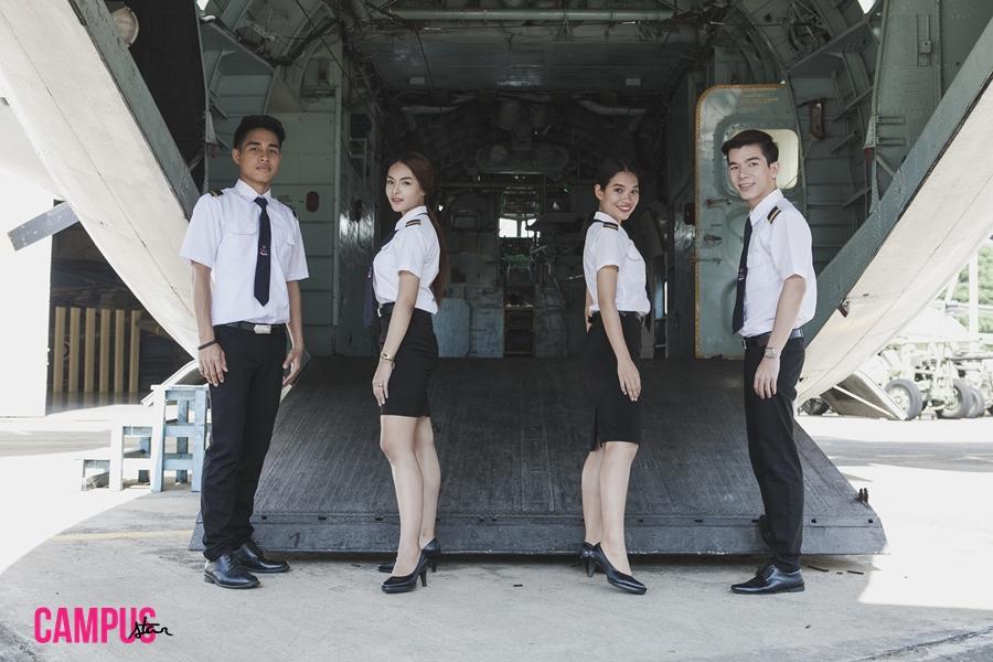 การบิน นักบิน ม.ศรีปทุม วิทยาลัยการบินและคมนาคม เครื่องบิน
