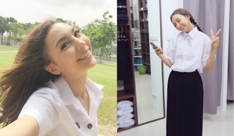 THE FACE THAILAND คาริสา ดาราตอนเด็ก ดาราในชุดนักศึกษา วิทยาลัยนวัตกรรมสื่อสารสังคม
