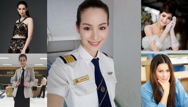 THE FACE THAILAND The face thailand 3 การบิน จูลี่ วิลาวรรณ ดาราในชุดนักศึกษา นางแบบ