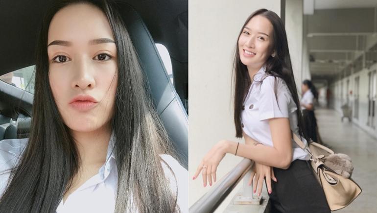 Campus Cute ทัตนเเพทย์ นักศึกษา สาวน่ารัก เจล จุฑาลักษณ์