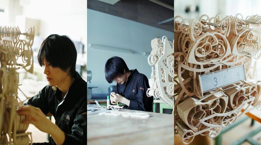 ข่าวการศึกษาญี่ปุ่น นาฬิกา ผลงานจบการศึกษา สิ่งประดิษฐ์