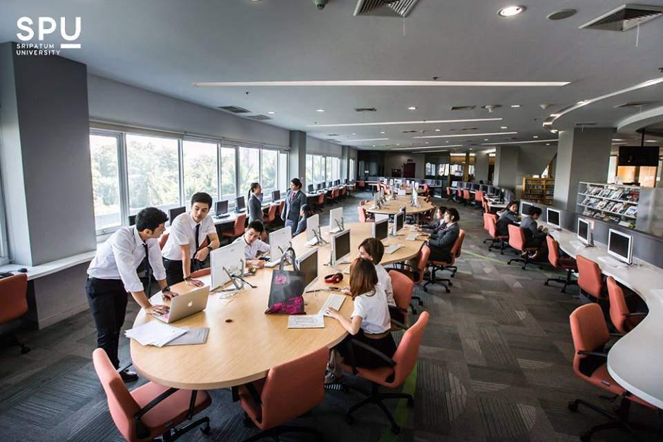 สำนักหอสมุด (อาคาร 40 ปี) : มหาวิทยาลัยศรีปทุม