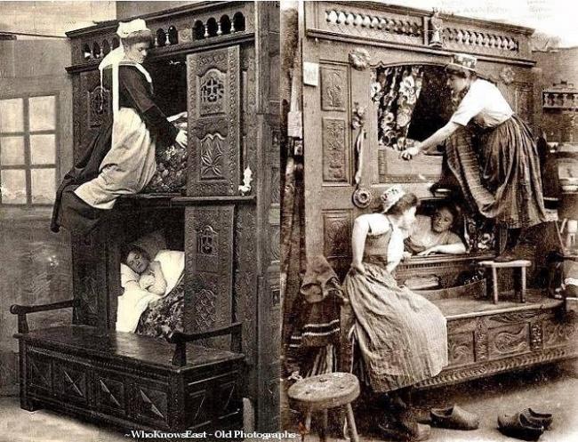 ภาพห้องนอน ของชาวใช้ในสมัยก่อน