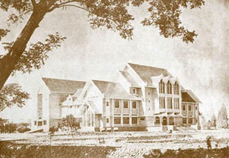 วันนี้ในอดีต อาคารจั่วสามมุข อาคารหอประชุมใหญ่ ม.เกษตรศาสตร์