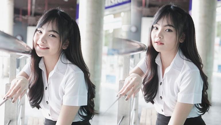 Campus Cute cute girl คลิปสาวน่ารัก คลิปสาวมหาลัย ม.กรุงเทพ ลูกแก้ว-แก้วกาญจน์